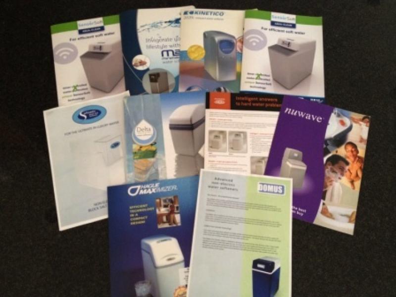 Water softener brochures