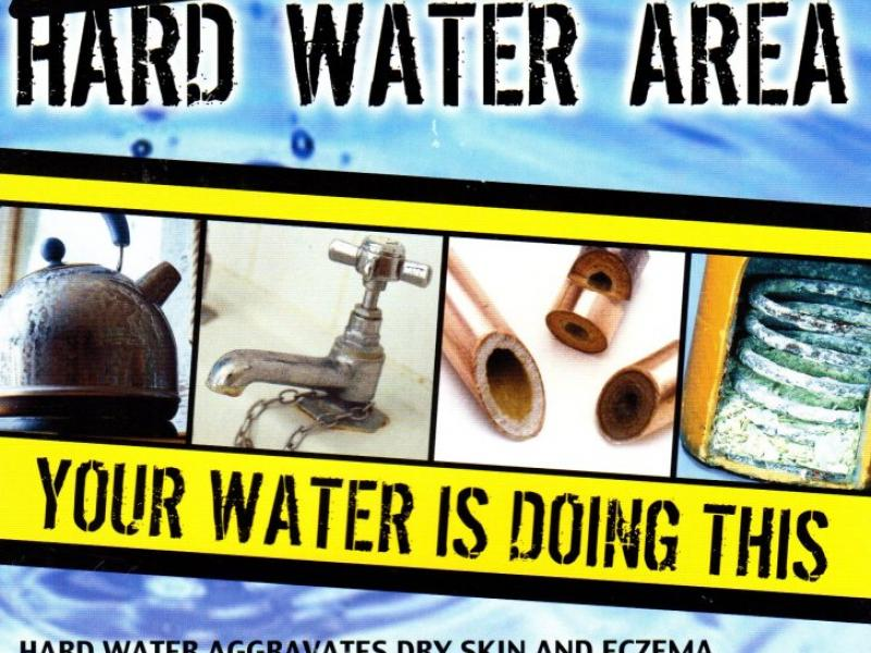 water softeners in hard water areas